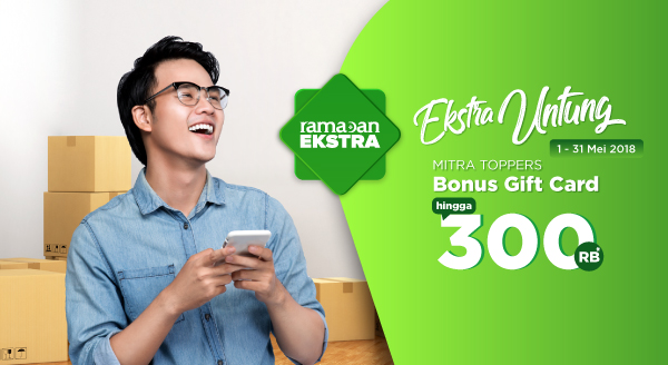 Pastikan Modal Jualan Aman, Bonus Gift Card Rp300.000
