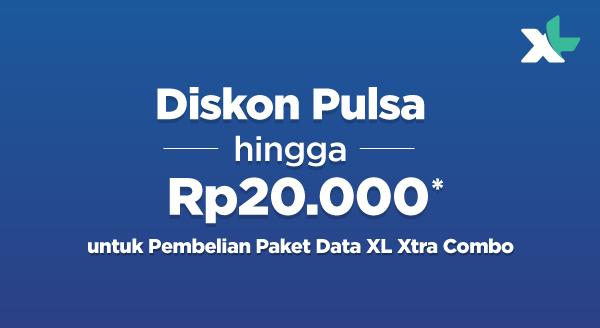Tebus Murah Paket Data XL Xtra Combo Diskon Pulsa XL hingga Rp20.000!