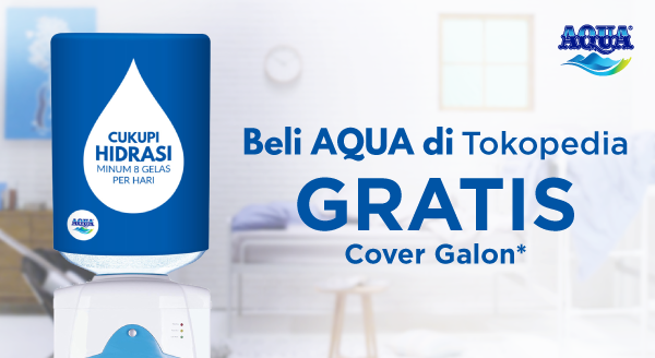 Beli Aqua di Sini, Dapatkan Bonus Cover Galon