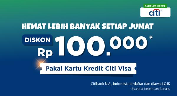 Hemat tiap Jumat, Diskon hingga Rp100.000