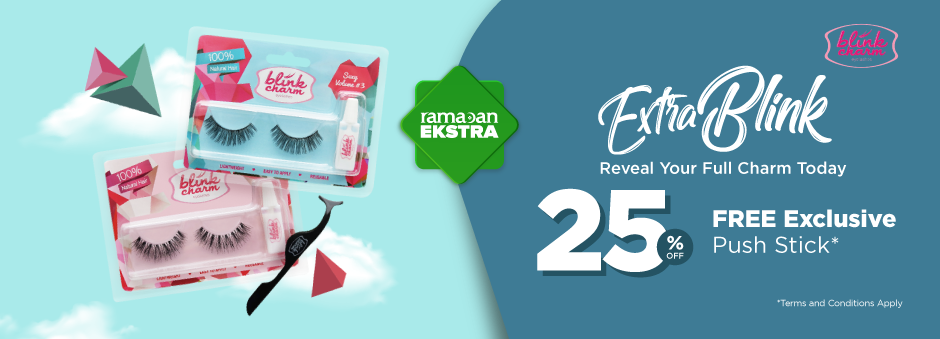Blink Charm Diskon 25% + GRATIS Push Stick, Makin Cantik Makin Lentik!