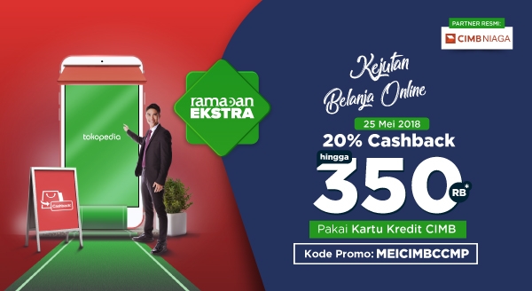 Rayakan Kejutan Belanja Online Tokopedia, Nikmati Cashback 20% Hingga Rp350.000!