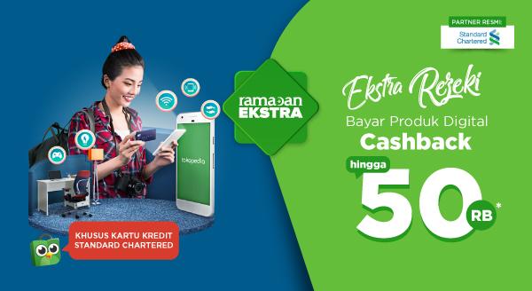 Ekstra Rezeki! Bayar Produk Digital Pakai Kartu Kredit Standard Chartered.