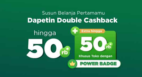 Mulai Belanja Pertamamu di Marketplace & Official Store Dapatkan Cashback hingga Rp50.000