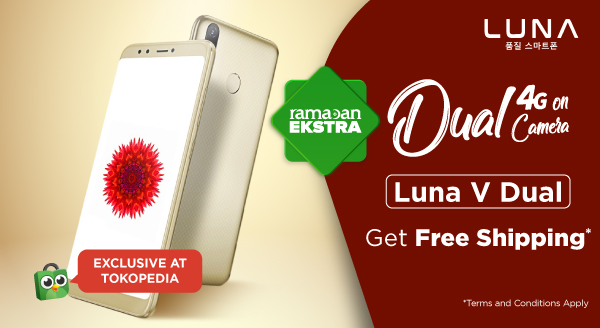 Smartphone Luna V Dual Eksklusif Hadir di Tokopedia Official Store