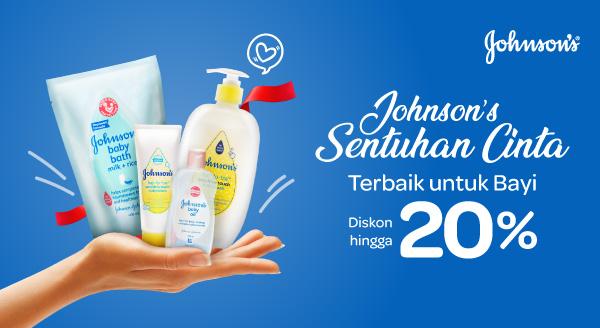 Belanja Produk Johnson & Johnson Hemat hingga 30% + Dapat Cashback 5%