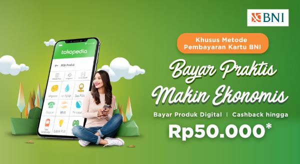 Bayar Produk Digital dengan Kartu Kredit BNI, Cashback hingga Rp50.000!