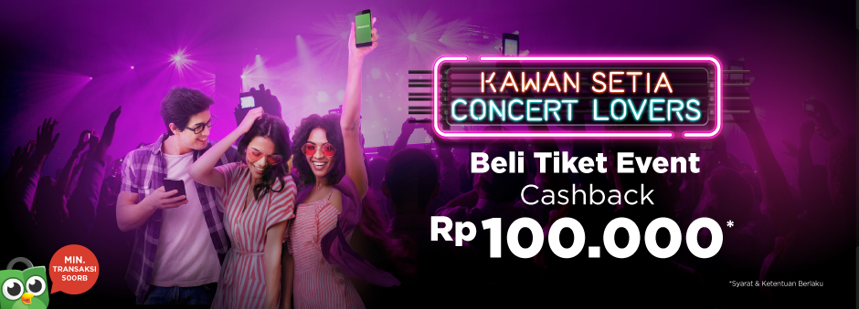 Pesan Tiket Event/ Hiburan, Cashback Rp100.000