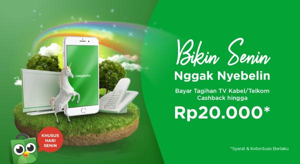 Bayar Tagihan TV Kabel / Telkom di Hari Senin, Dapat Cashback