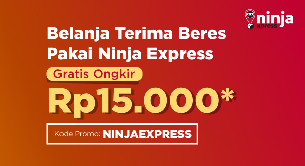 Nikmati Gratis Ongkir Ninja Xpress Rp15.000 Hanya Untukmu