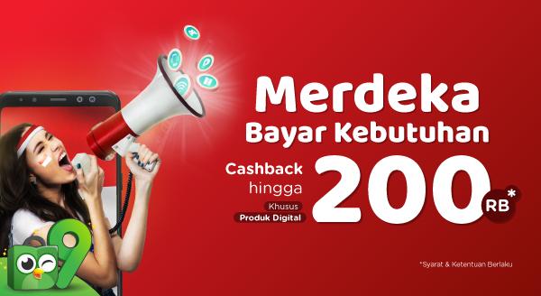 Hemat Waktu Bayar Produk Digital dan Raih Cashback Hingga Rp200.000!