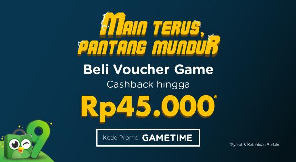 Beli Voucher Game, Cashback Berlimpah hingga Rp45.000!