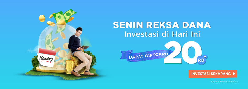 Mulai Investasi Kapan Saja, Bonus Gift Card Senilai Rp20.000.