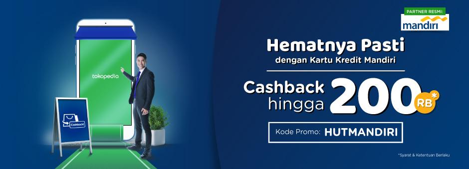 promo mandiri kartu kredit dapatkan cashback hingga tokopedia. Black Bedroom Furniture Sets. Home Design Ideas