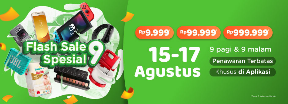 Tokopedia Flash Sale Spesial 9!