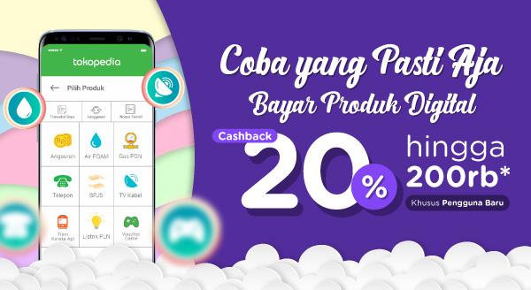 Bayar Produk Digitalmu Pertama Kali, Cashback hingga Rp200.000!