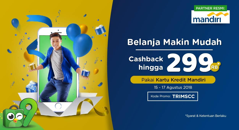 Belanja Tak Perlu Repot Pakai Kartu Kredit Mandiri, Cashback hingga Rp299.000