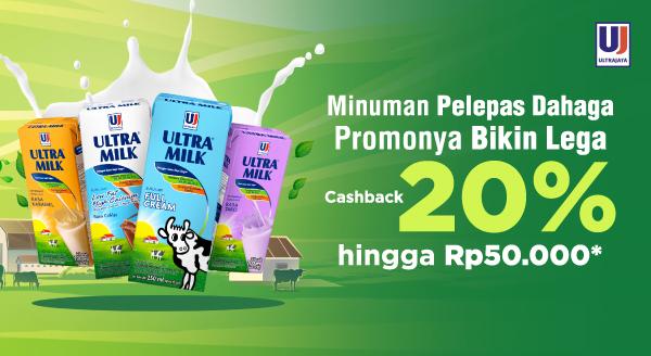 Sediakan Minuman Untuk Melepaskan Kehausan, Cashback 20% hingga Rp50.000