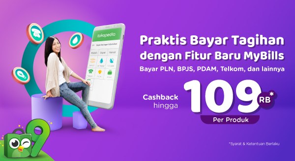 Bayar Tagihan dengan Fitur Baru MyBills, Cashback s.d Rp 109.000 per Produk!