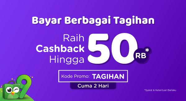 Bayar Tagihan, Cashback hingga Rp50.000