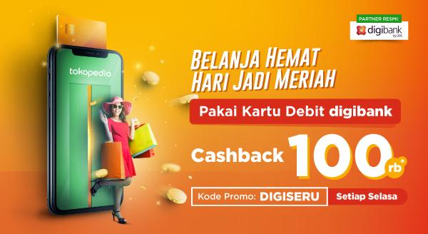 Nikmati Cashback Rp100.000 dengan Kartu Debit digibank.