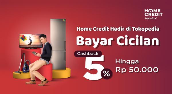 Bayar Cicilan Home Credit di Tokopedia, Dapat Cashback hingga Rp50.000 !