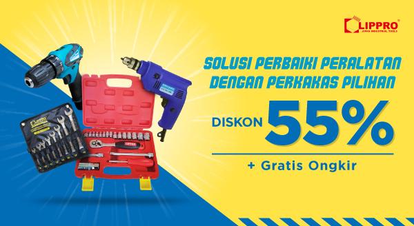 Diskon s.d 55% untuk Bantu Perbaiki Peralatan Rumah!