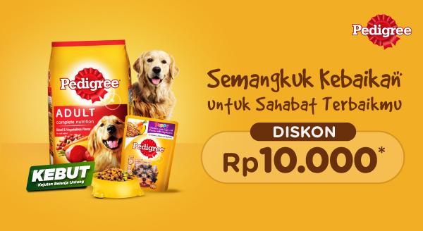 Belanja Pedigree Hemat, Cemilan Nikmat untuk Pet Kamu!