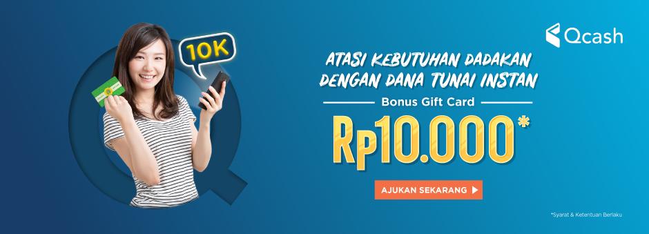 Ajuin Dana Instan di Tokopedia dan Raih Gift Card Rp10.000!