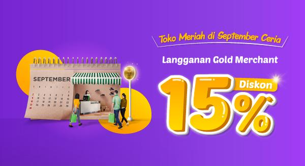 September Semakin Ceria dengan Promo Gold Merchant
