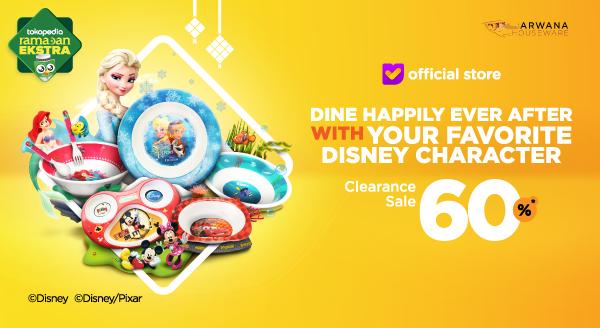 Diskon 60% untuk Peralatan Makan Disney Cuma di Sini!
