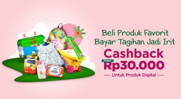 Cara Hemat Bayar Tagihan, Beli Produk Official Store, Cashback s.d Rp30.000