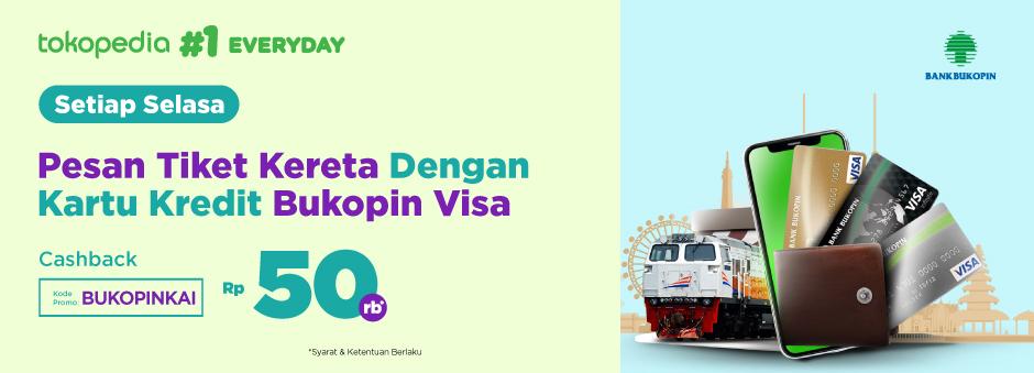 Pesan Tiket Kereta dengan Kartu Kredit Bukopin, Bonusnya Nyenengin!