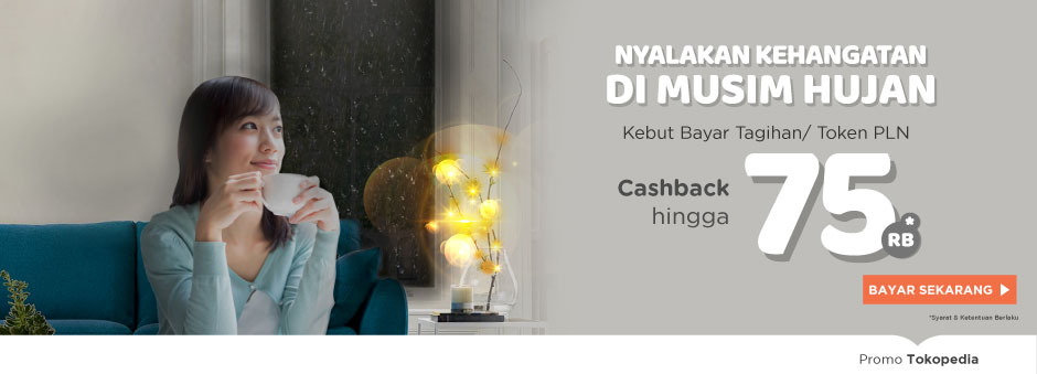 Cashback hingga Rp75.000 Bayar Tagihan Listrik