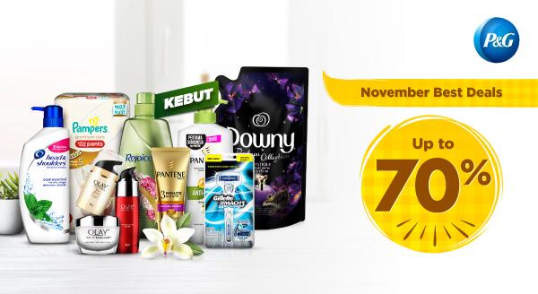 #AyoKebut Sambut November dengan Diskon 70%!