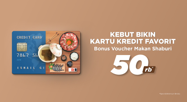 Apply Kartu Kredit BCA, Bonus Voucher Makan Shaburi Rp50.000