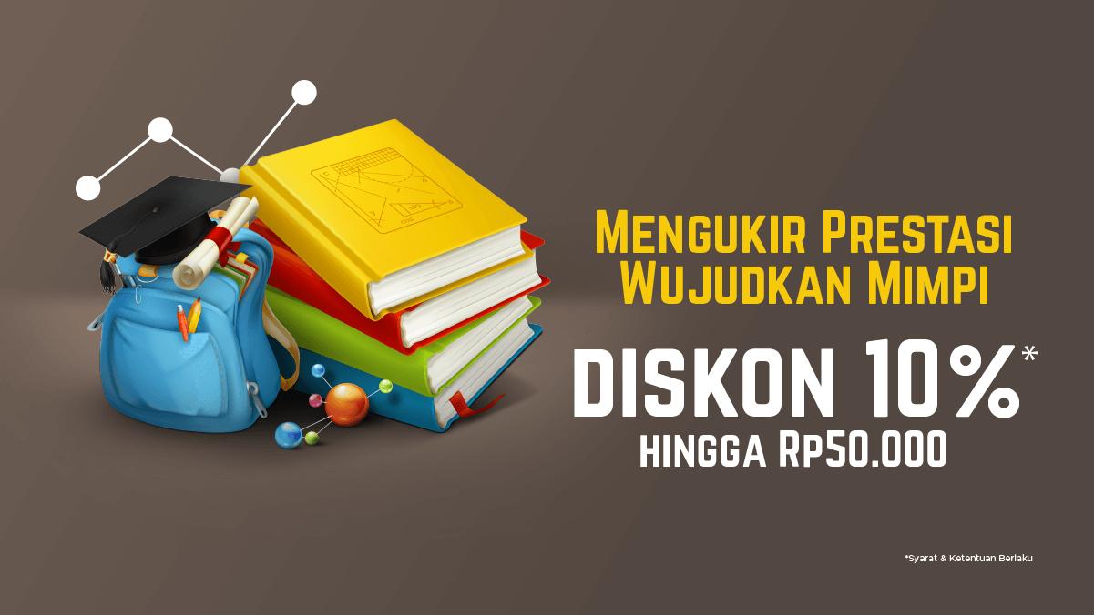 Tahun Ajaran Baru Lebih Seru dengan Buku Baru! Diskon 10% hingga Rp50.000