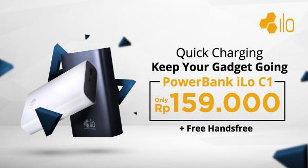 Kapan Lagi? Powerbank iLo Hanya Rp159.900 + Gratis Handsfree