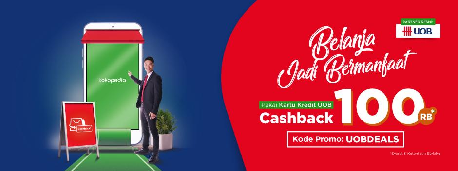 Nikmati Belanja  Di Tokopedia, Raih Cashback  Rp100.000!