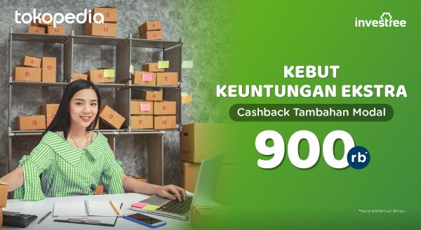 Cashback Pinjaman Modal Dari Investree Senilai Rp900.000