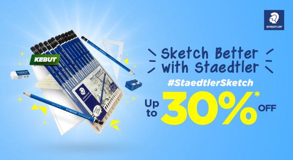 #AyoKebut Menulis hingga Membuat Sketsa, Semua Bisa! Diskon s.d 30%