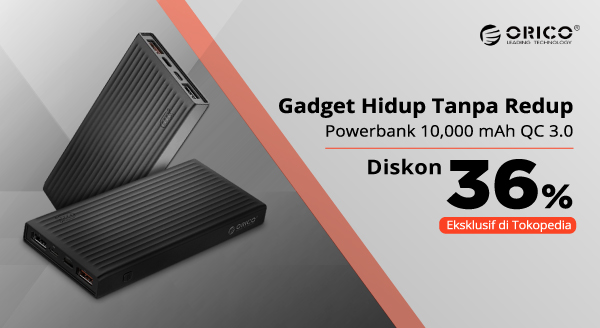 Powerbank Eksklusif Bikin Gadget Selalu Aktif! Diskon 36% + Gratis Ongkir