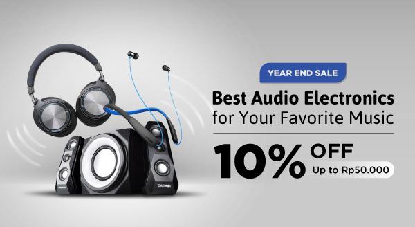 Peralatan Audio Terbaik Diskon 10% hingga Rp50.000