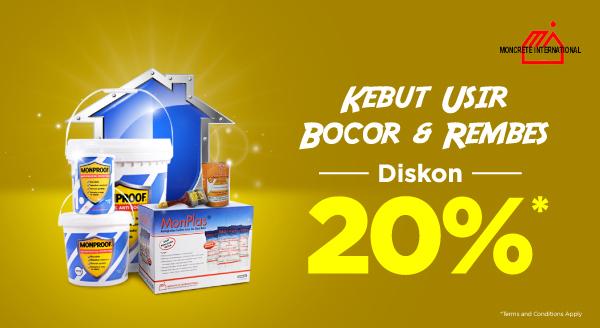 Kebut Lindungi Rumah dari Bocor & Rembes saat Hujan! Diskon 20%