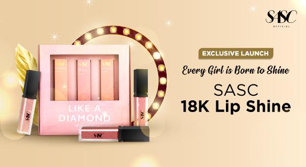 Dapatkan di Tokopedia, 18k Lip Shine Terbaru dari SASC