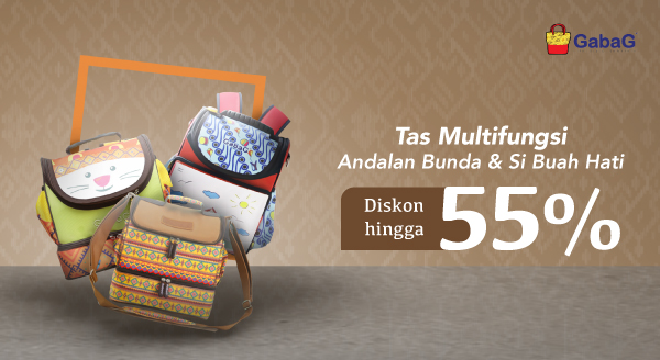 Hemat Setengah Harga untuk Dapat Tas Serbaguna!