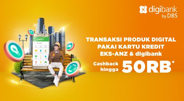 Transaksi Produk Digital Pakai Kartu Kredit digibank, Bonus Cashback!