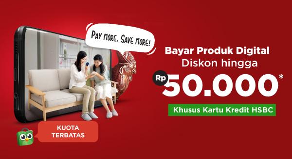 Bayar Produk Digital dengan Kartu Kredit HSBC, Diskon hingga Rp50.000