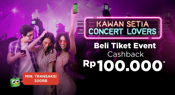 Pesan Tiket Event/Hiburan, Cashback Rp100.000!