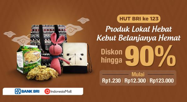 Di Indonesia Mall, Produk Lokal dengan Promo Spesial HUT BRI